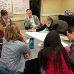 Grow Your Own Food design team: designers and partners work to define barriers