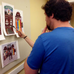 Looking closely at content for the 'Eat Local' exhibit