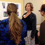 Zoe Bentson, action leader (center) and Emily Brownson, design lead (right), Promote Food Justice  design team