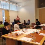 Steve Kelley introduces a concept to the Advisory Committee